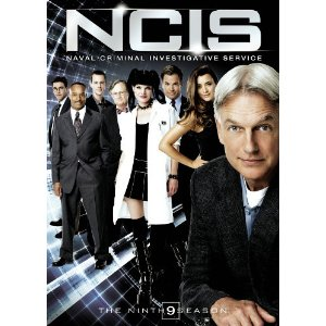 DVD cover for NCIS showing Gibbs in foreground and remaining cast in background.