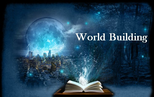 WorldBuilding Moon, Cityscape and Book