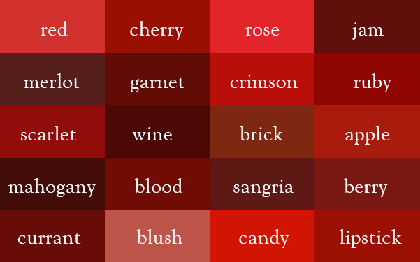 colors red