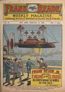 Frank Reade Magazine Cover with Flying Ships